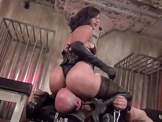 trapped under her ass