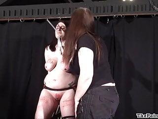 Brutal lesbian bdsm and extreme spanking a bbw amateur slave